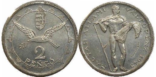 2 pengő 1945