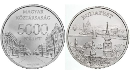 """2010 pénzérméje a """"Budapest"""" emlékérme"""