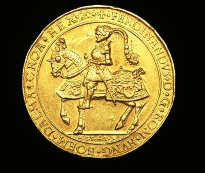 I. Ferdinánd aranyérme 1541-ből