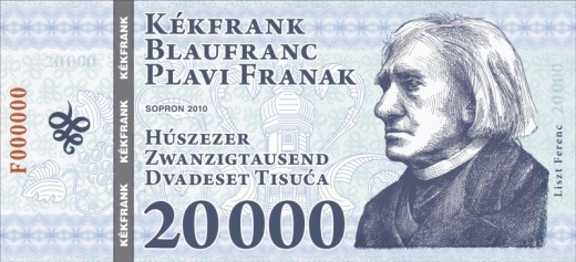 20.000 Kfr - Liszt Ferenc (kekfrank.hu)