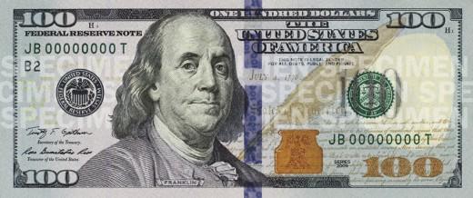 Az új 100 dolláros bankjegy