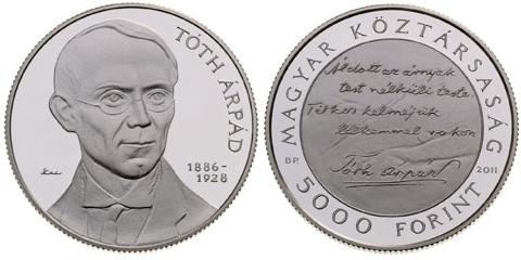 'Árpád Tóth' collector coin