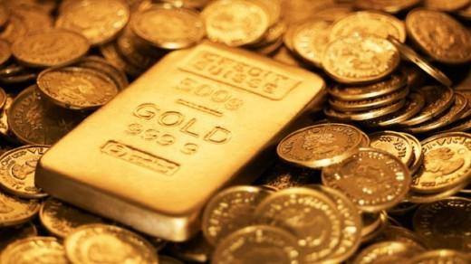 Aranytömb és aranyérmék