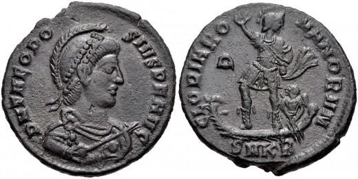 Theodosius I.  i.e. 379-395. AE