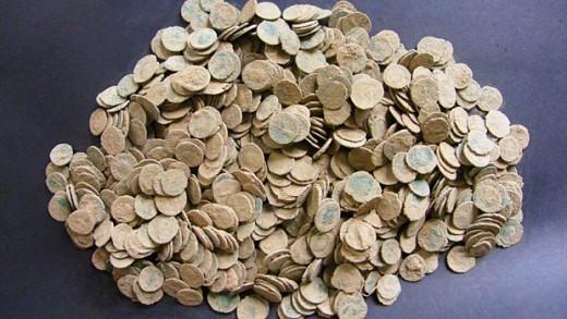 Római érmék Walesből