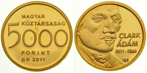 Adam Clark 5000 forint gold commemorative coin