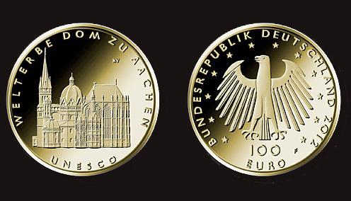 Aachen - 100 eurós aranyérme