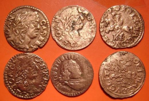 A megtalált érmék egy része (kurierlubelski.pl)