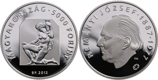 Reményi József 5000 forintos ezüst emlékérme