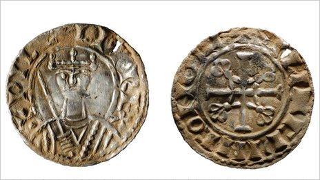 I. Vilmos ezüst penny - gloucesteri veret (bbc.co.uk)