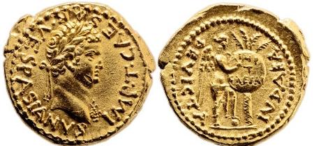 Titus Flavius (79-81) arany aureus