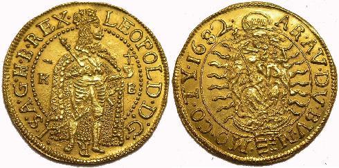 I.Lipót dukát 1682