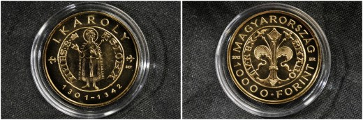 Gold Florin of Charles I - hungarian gold collector coin (MTI photo: Kovács Attila)