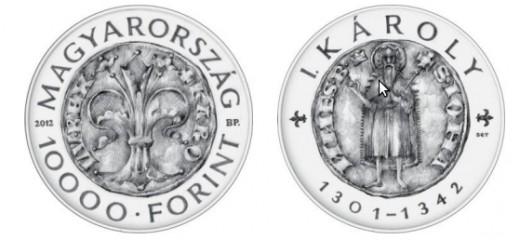 I. Károly aranyforintja - 10000 Forint névértékű emlékérme terv
