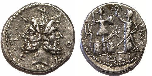M. Furius L.f. Philus ie. 120 denár