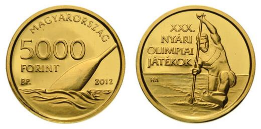 Olimpia 2012 5000 Ft. arany emlékérme