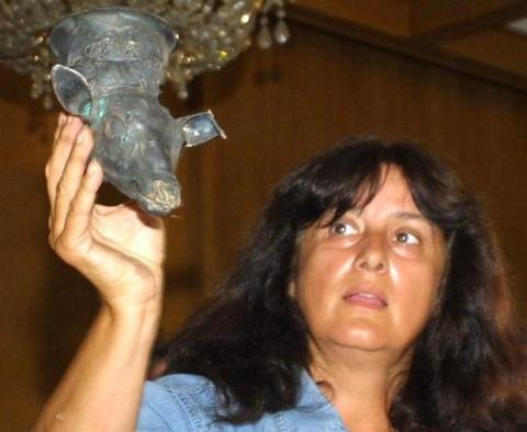 Daniela Agre professzor, ásatásvezető régész