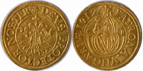 Brassó város aranyforint 1612