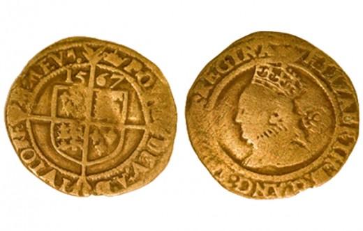 Érme I. Erzsébet angol királynő idejéből ami tartalmaz nemesfémet a bolíviai bányákból (forrás: ScienceNews)