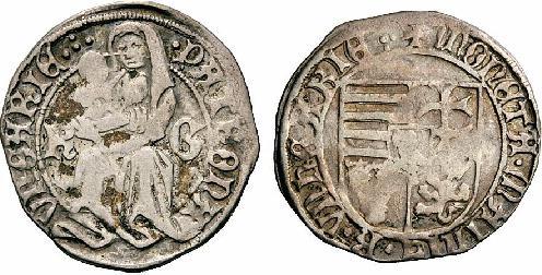 Hunyadi Mátyás garas Körmöcbánya 1472