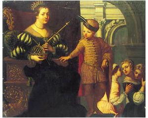 Tomasina Morosina fiával, III.Andrással, ismeretlen XVII. századi festő