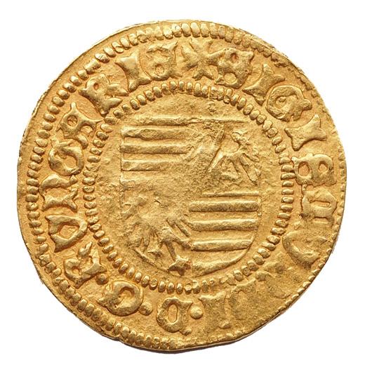 Zsigmond aranyforint C-I előlap