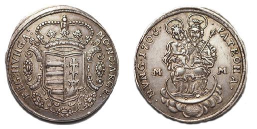 II.Rákóczi Ferenc 1/2 tallér 1706 Munkács