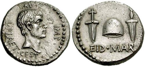 Brutus denár /kép forrása: Wikipédia/