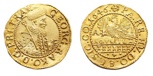 I.Rákóczi György aranyforint 1646