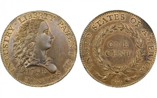 1792-es Birch Cent leütési ára 2,58 millió dollár