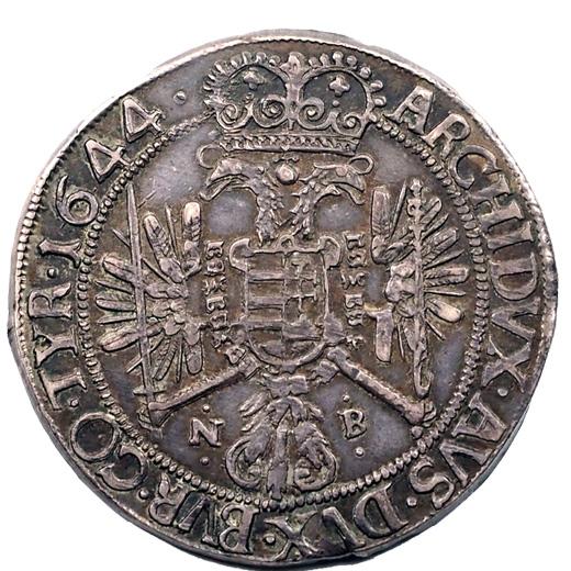 1644 NB tallér hátlap