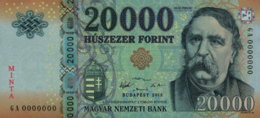Az új húszezer forintos bankjegy előoldala