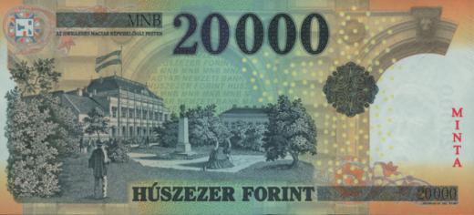 Az új húszezer forintos bankjegy hátoldala