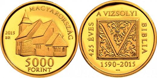 5000 forintos címletű arany emlékpénz