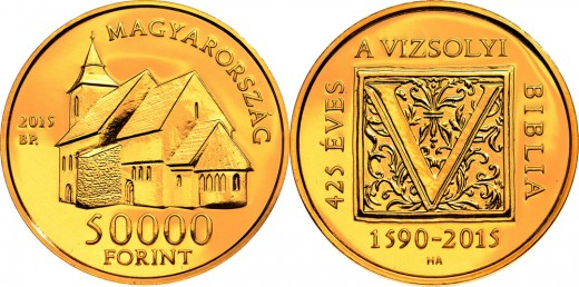 50000 forintos címletű arany emlékpénz