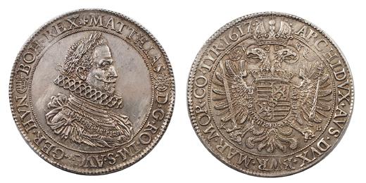 II.Mátyás tallér 1617