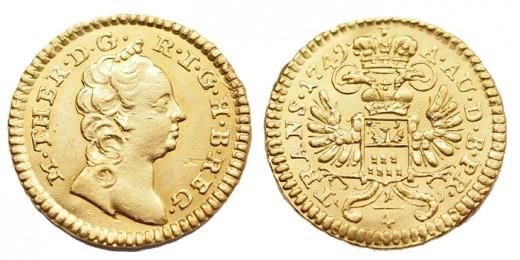 Mária Terézia 1/4 dukát 1749
